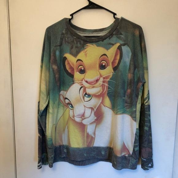 d6af85e2 Disney Lion King Simba and Nala Sweatshirt Large